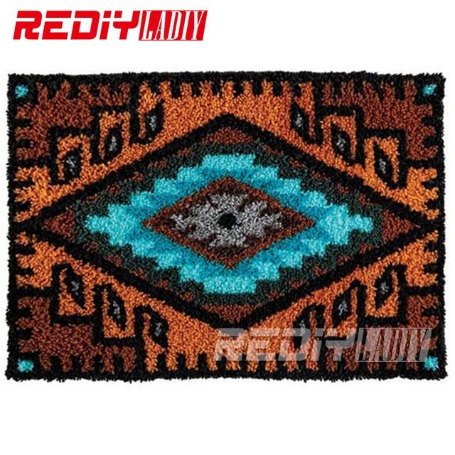 DIY Teppich Teppich Geometrische Muster Decke Knüpfteppich 3D Häkeln ...
