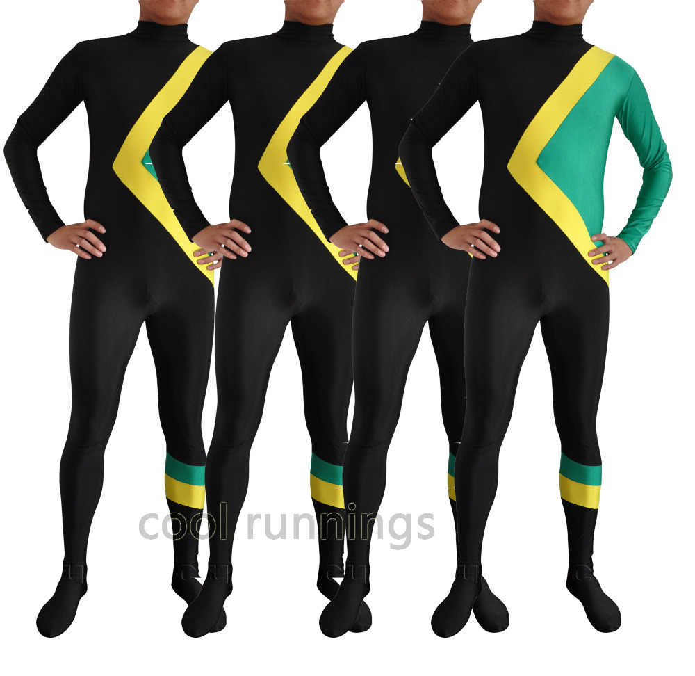 fee3d6208e2 Wholesale Kid Adult Fancy dress Party Cool Runnings Jamaican Bobsled Team  Skin Costume Halloween Party