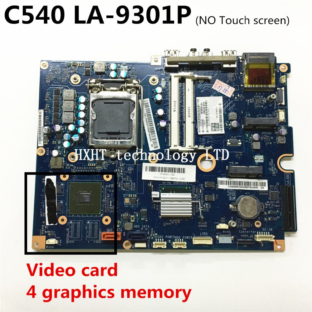 For Lenovo C540 all-in-one motherboard LA-9301P desktop mainboard with Video card 100% tested Good working