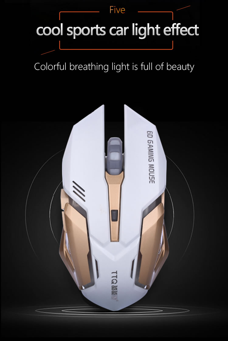 86a599f1d4a 2019 TTQ Mechanical Mouse Gamer Laser Led Gaming Mouse Wired USB ...
