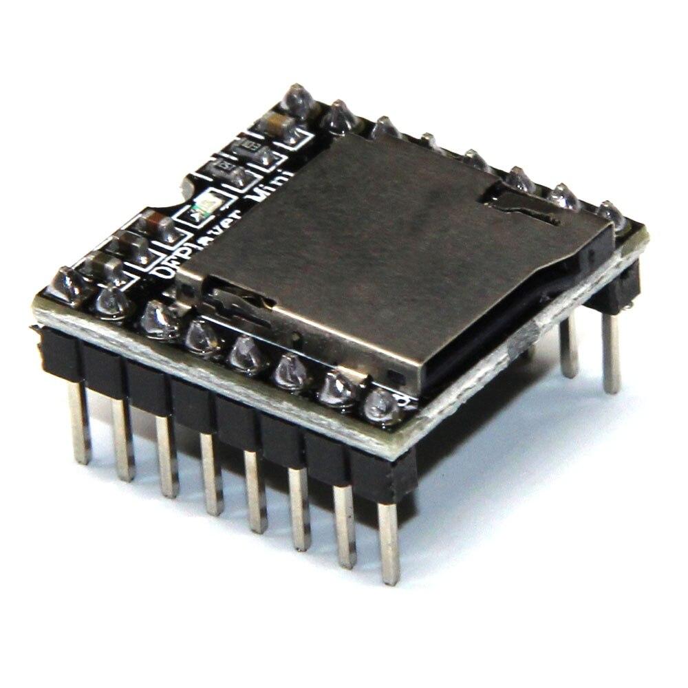 Prix pour 50 pcs DFPlayer Mini MP3 Lecteur Module MP3 Voix Module pour Arduino DIY Soutenir la Carte De TF et USB Disque