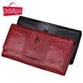 BVLRIGA Женщин бумажники и кошельки дизайнер кошельки известная марка сцепления сумка крокодил шаблон доллар цена натуральная кожа кошельки
