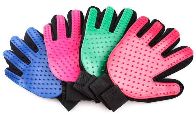 Hot Silicone Dog Glove Dog Accessories Soft Use Pet Cats Gloves Grooming Bath Hair Cleaning Comb Efficient Massage Pets Supplier 1