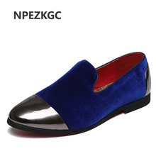 NPEZKGC Velvet Loafers Men Shoes Men's Flats Male Slip-On Driving Shoes Large Size Soft Comfortable Designer Loafers Moccasins