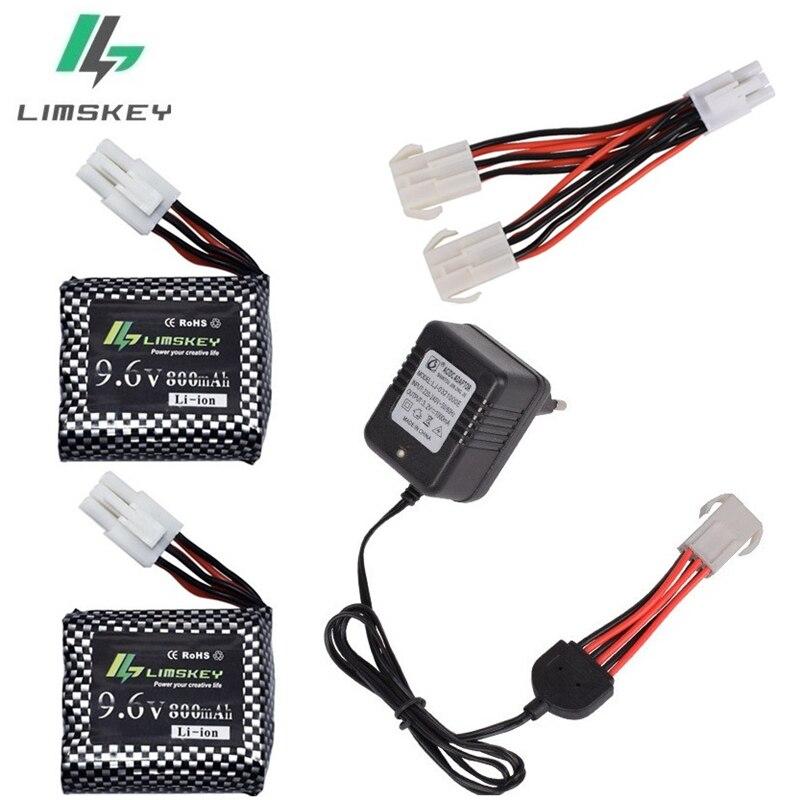 Limskey carregador original, bateria de íon de lítio 9.6v 800 mah + carregador de 9.6v para caminhão de alta velocidade rc 9115 s912 9116 bateria do carro do rc frete grátis
