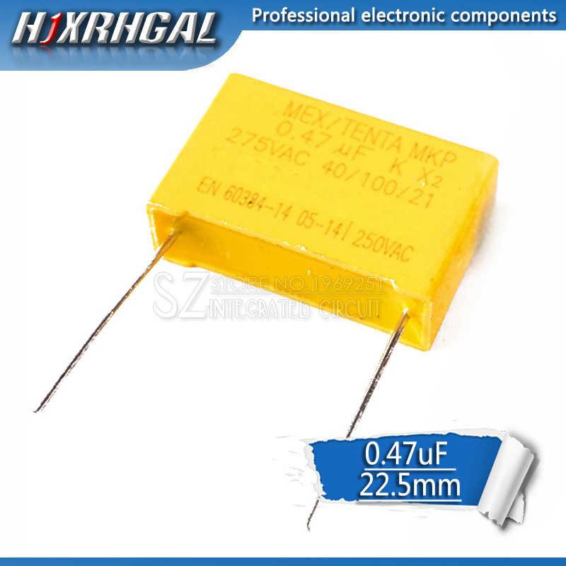 1 個 470nF コンデンサ X2 コンデンサ 275VAC ピッチ 22.5 ミリメートル 0.47uF X2 ポリプロピレンフィルムコンデンサ hjxrhgal