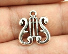 WYSIWYG 20pcs 17x16mm Musical Instruments Charms, Handmade Jewelry Accessories, DIY Jewelry Findings
