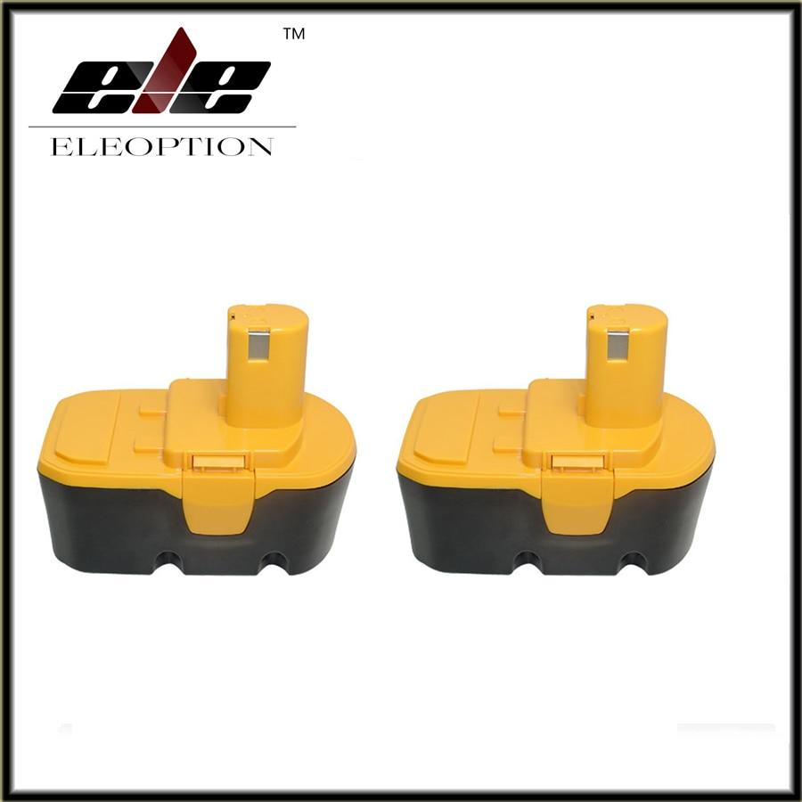 Eleoption 2 pcs Replacement For RYOBI 130224028 ABP1803 BPP 1813 BPP 1817 BPP 1820 ABP1801 BPL1820