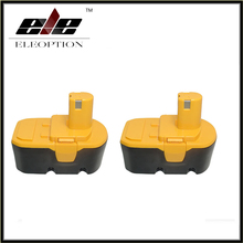 Eleoption 2 pcs Replacement For RYOBI 130224028 ABP1803 BPP-1813 BPP-1817 BPP-1820 ABP1801 BPL1820 Power Tool Battery