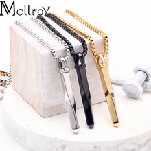 Mcllroy necklace men/stainless steel/chain/gold/black long pendants necklaces vintage punk choker fashion men jewelry valentine(China)