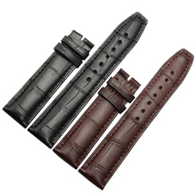Alligator Leather Watchbands Straps For Men wrist Watches Accessories 20mm 21mm 22mm black brown High Quality