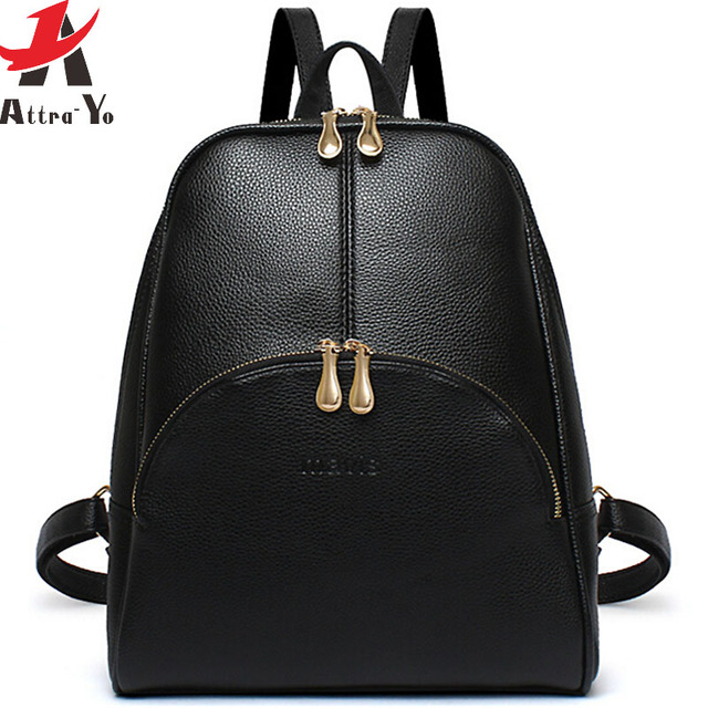 2018 New Women Backpack Famous Brands School Bags Leather Backpacks Travel