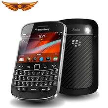 Original desbloqueado blackberry 9900 wcdma 3g qwerty teclado 8gb rom 5mp bluetooth wifi usado celular frete grátis