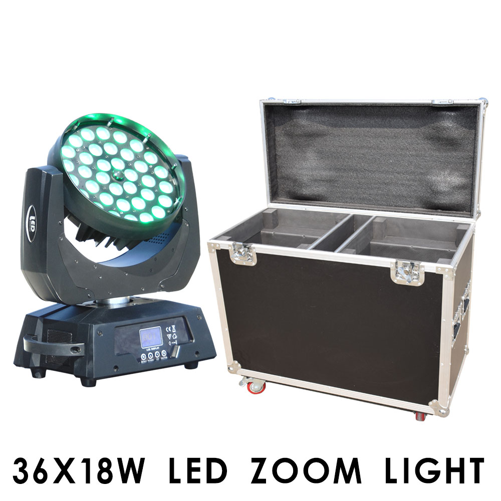 Bar Attractive Appearance Disco 38x18w Led Wash Zoom Moving Head Light Rgbw Uv 6in1 Or 4in1 For Stage