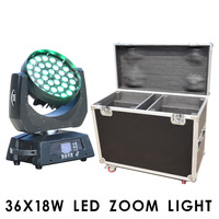 38x18w LED Wash zoom moving head light RGBW UV 6in1 or 4in1 for Stage, disco, bar
