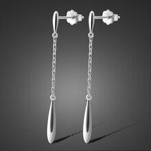 Wholesale 925 sterling silver jewelry color Fashion Waterdrop Earrings Jewellery women earings for wedding party sport
