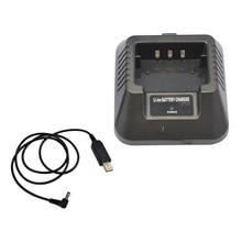 USB şarj adaptörü için Baofeng UV 5R DM 5R BF F8 + BF F8HP Ham radyolar Walkie talkie daha esnek giriş çözümü