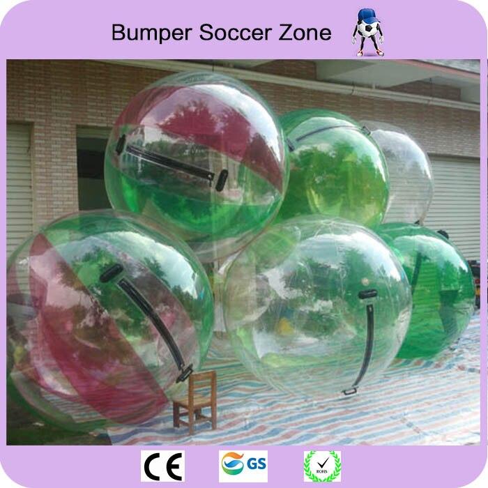 Livraison gratuite 0.8mm TPU 2 m boule de marche de l'eau boule d'eau géante Zorb Ballon Ballon gonflable humain Hamster boule d'eau