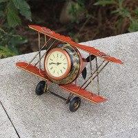 Eisen Glocke Modell Eisen prozess uhr Home Dekoration zakka Hause Schmuck flugzeug Modell anhänger|Figuren & Miniaturen|   -