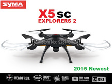 SYMA X5SC X5SC-1 RC Drone 2.4G 4CH 6-Axis Remote Control Toys Quadcopter Helicopter With 2MP HD Camera 2015 Newest
