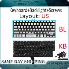 """جديد لأبل ماك بوك اير 11 """"A1370 A1465 الولايات المتحدة الأمريكية الإنجليزية لوحة المفاتيح الولايات المتحدة استبدال مع الخلفية الخلفية 2011 2015 العام"""