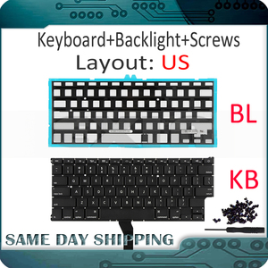 """Image 1 - New for Apple Macbook Air 11"""" A1370 A1465 US USA English Keyboard us Replacement with Backlight Backlight 2011 2015 Year"""