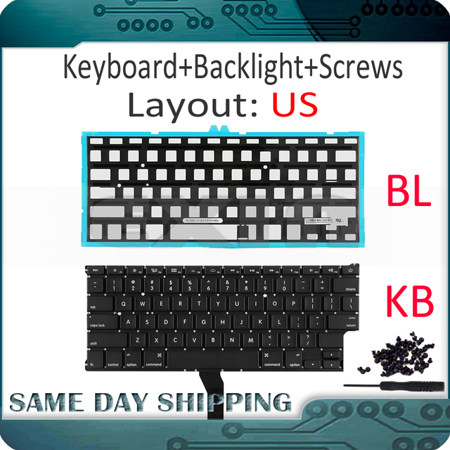 """New for Apple Macbook Air 11"""" A1370 A1465 US USA English Keyboard us Replacement with Backlight Backlight 2011 2015 Year"""
