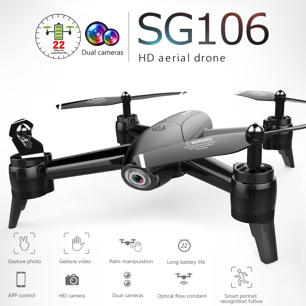 SG106 1080P HD RC Drone Optical Flow Dual Camera Real Time Aerial Video RC Quadcopter Aircraft