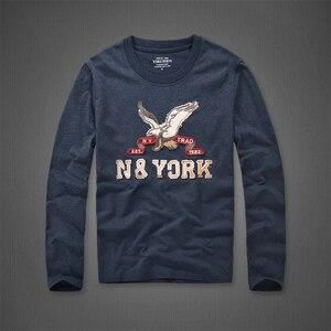 Image 3 - 長袖 tシャツの男性の春と秋のラウンド襟カジュアルコットン Tシャツサイズ s 3XL