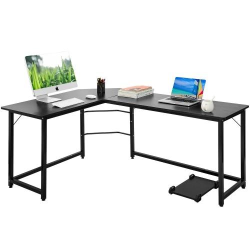 Office L-Shaped Desk Corner Computer PC Table Laptop Desk Workstation Home Office Desk