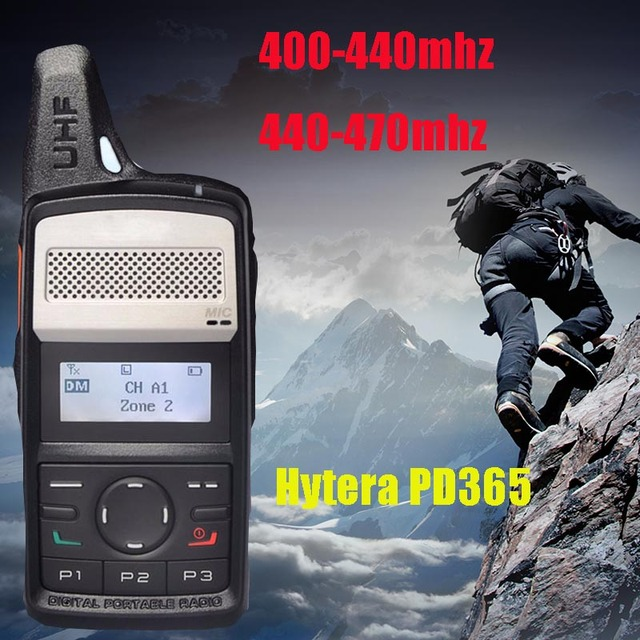 Hytera PD365 walkie talkie 400 440mhz 430 470mhz digital DMR 2000mAh battery long standby walkie talkie for hunting 10 km