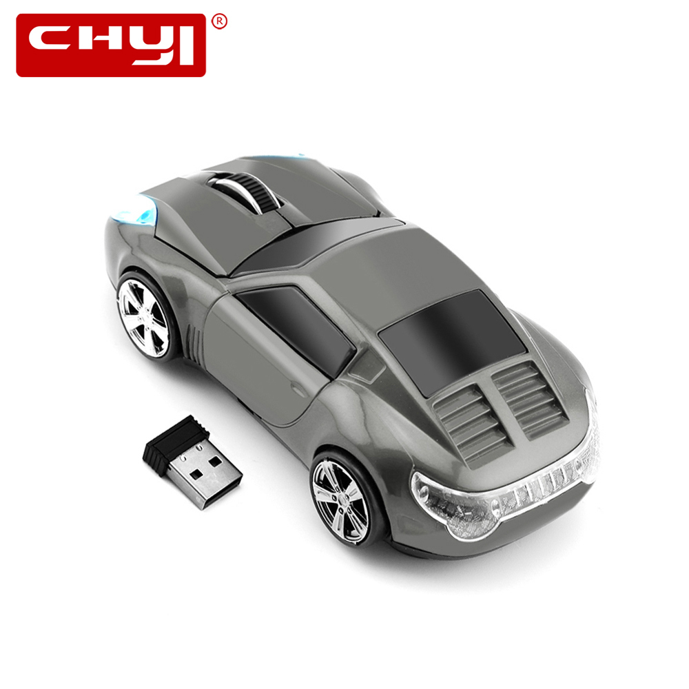 CHYI Wireless Mouse Ergonomic 2.4Ghz 1600DPI Sports Car Neunelfer 911 Coupe Race Automobile Sportscar Mice For PC Laptop Desktop