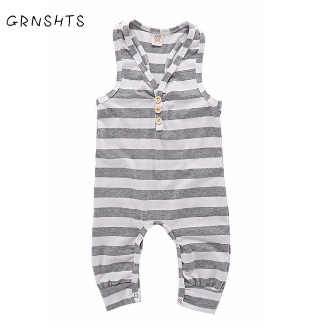 61fa563da 2018 Brand New Fashion Newborn Toddler Infant Baby Girls Romper Sleeveless  Jumpsuit Playsuit Little Boy Outfits Stripes Clothes