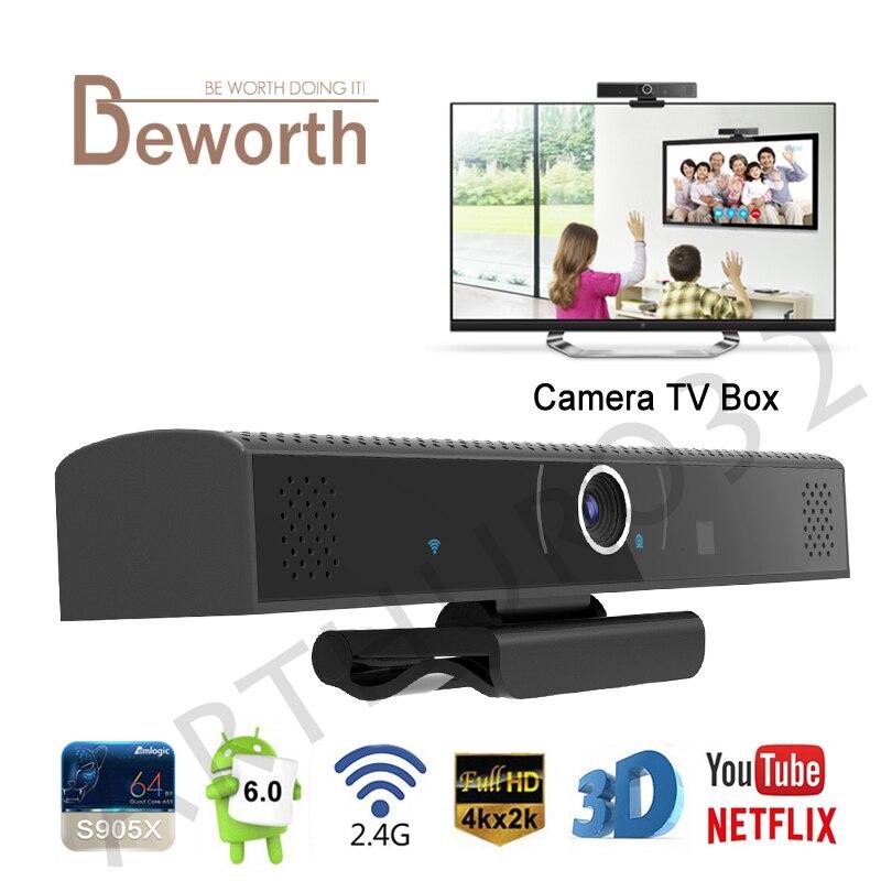 HD3S Camera TV Box Amlogic S905X Quad Core 1GB 8GB Android 6.0 HDMI HD Build-in MIC Speaker Audio DSP Smart Media Player PK HD23
