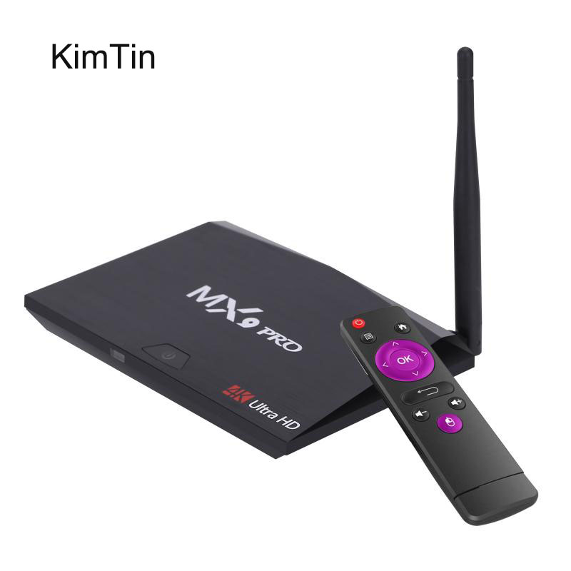 KimTin MX9 Pro Ram 4GB Rom 32GB RK3328 Quad Core 64Bit Android 7.1 Set Top Box 4K 3D USB 3.0 H.265 HDR VP9 BT4.0 5G Wifi TV BOX