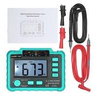 Medidor de resistencia de aislamiento VC60B + medidor de voltímetro megóhmetro medidor de herramienta de diagnóstico electrónico 250 V/500 V/1000 V retroiluminación LCD