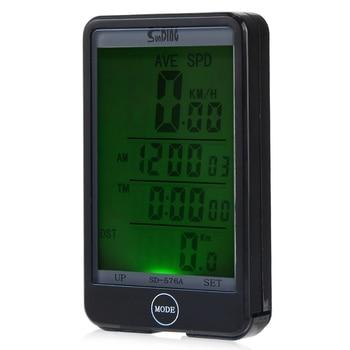 Velocímetro de ordenador para bicicleta con cable táctil modo de luz automático a prueba de agua retroiluminación LCD odómetro tiempo de viaje Función de cronómetro portátil