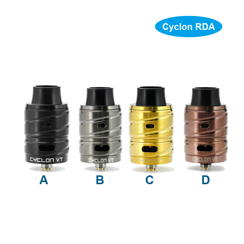 100 original Fumytech Cyclon VT RDA Dual Coil Version Electronic cigarettes silver dragon ball earth ball