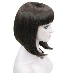 Image 2 - StrongBeauty delle Donne Parrucche Scoppio Accurato Bob Style Breve Rettilineo Dei Capelli Nero/Bionda Parrucca Sintetica Pieno 6 di Colore