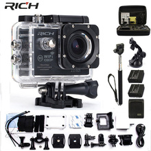 Action Camera 2.0 inch Mini Cam wifi 170 degrees 1080p 30fps Waterproof 30m Go pro Style Outdoor Sport Camera