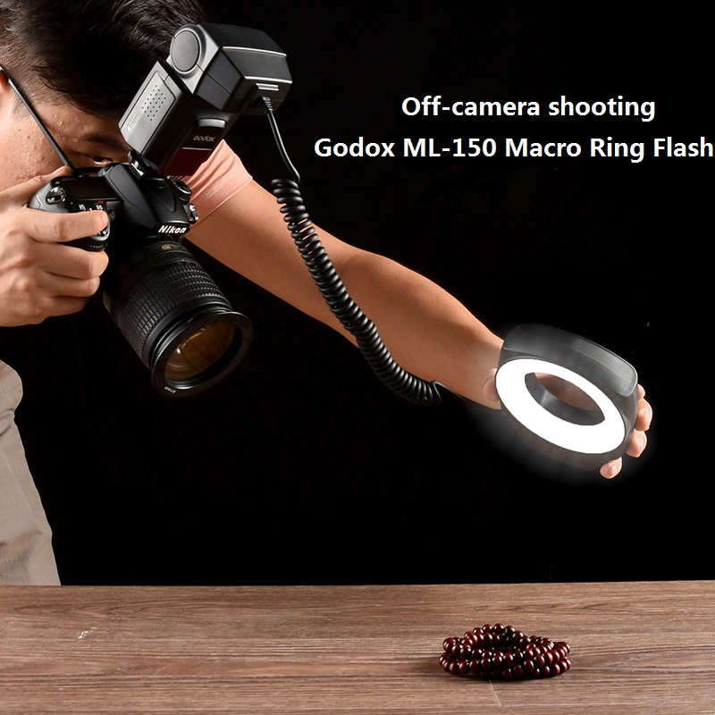 Godox ML 150 Macro Ring Flash Speedlite Guide Number 10 with 6 Lens Adapter Rings for Canon Nikon Pentax Olympus Sony cameras-in Flashes from Consumer Electronics