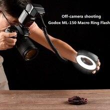 Godox ML 150 Macro Ring Flash Speedlite Leitzahl 10 mit 6 Objektiv Adapter Ringe für Canon Nikon Pentax Olympus Sony kameras