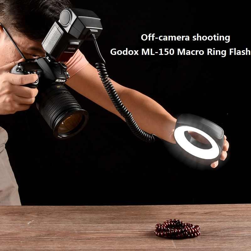 Godox ML-150 кольцо для макросъемки Speedlite направляющий номер 10 с 6 линзами переходные кольца для камер Canon Nikon Pentax Olympus sony