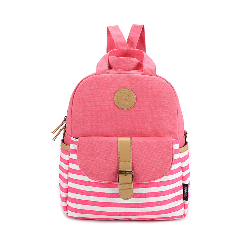 90673771d6d LEAPER Brand Shoulder School Bags For Teenage Girls Preppy Style Backpack  Canvas Bags For Teenagers Striped Women Backpack-in Backpacks from Luggage    Bags ...