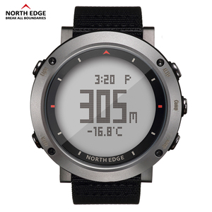 Image 1 - Esporte masculino relógio digital bandas de náilon horas running impermeável 50 m natação esporte relógios altímetro barômetro bússola masculino cor