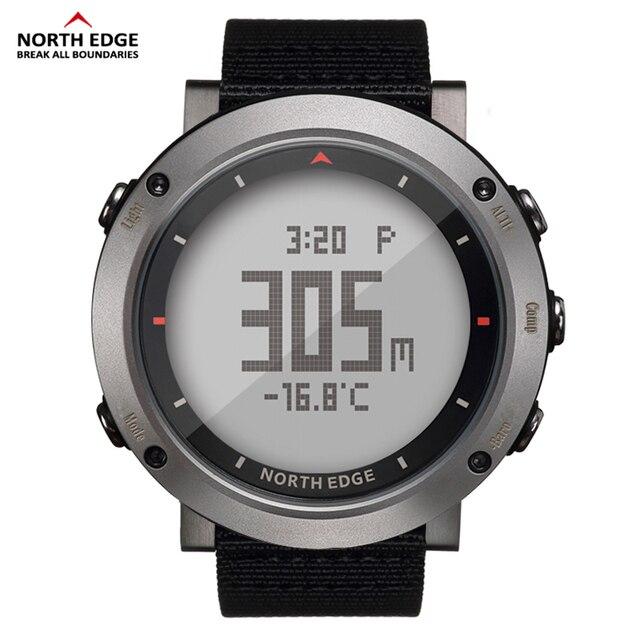 Esporte masculino relógio digital bandas de náilon horas running impermeável 50 m natação esporte relógios altímetro barômetro bússola masculino cor