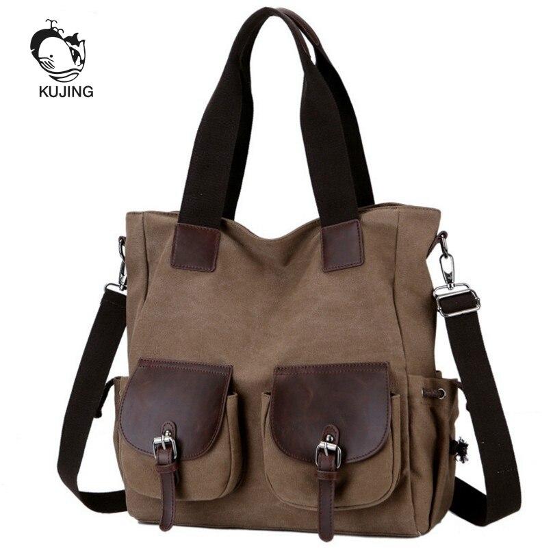KUJING Men And Women Canvas Bag High-end Travel Shoulder Messenger Bag Hot Business Handbag Art Youth Casual Cheap Canvas Bag