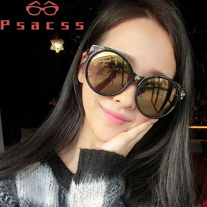 Psacss Retro Sunglasses Women 2018 Round Cat Eye Cute Fashion Women 39 s Sunglass Brand Designer High Quality Vintage Sun Glasses in Women 39 s Sunglasses from Apparel Accessories