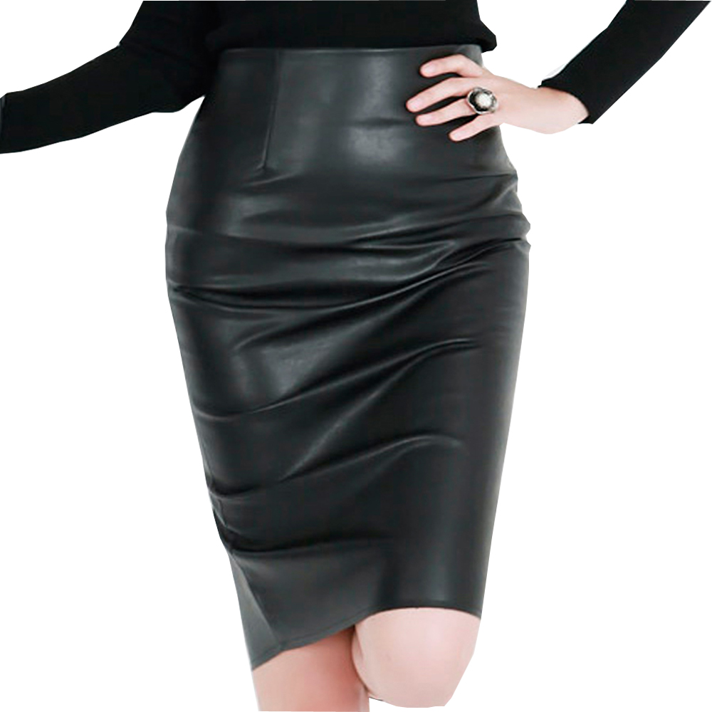 Popular Women Leather Skirt-Buy Cheap Women Leather Skirt lots ...