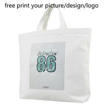 customized women handbag custom personalized DIY canvas picture photo print logo Messenger female shoulder bag eco shopping